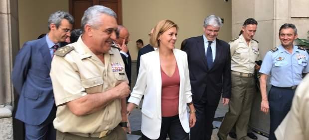 La ministra de Defensa D.De Cospedal en Barcelona