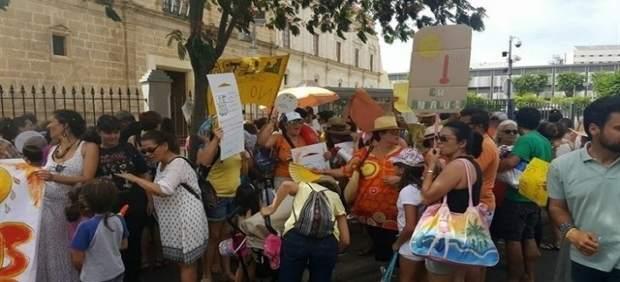 Protesta de las AMPA.