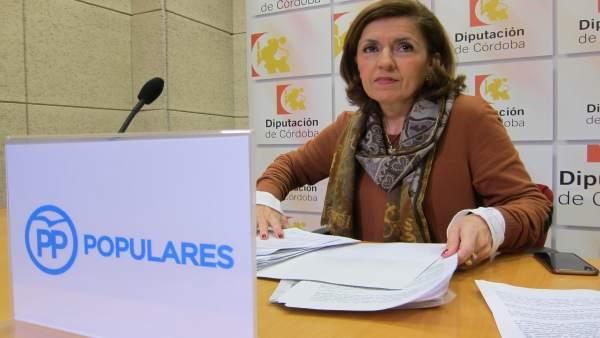 La portavoz adjunta del PP en la Diputación, María Jesús Botella