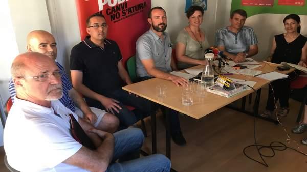 Rueda de prensa de En Comú Podem y sindicatos de agentes forestales
