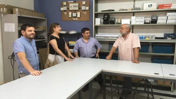 Reyes visita el centro de día de la Fundación Don Bosco en Jaén