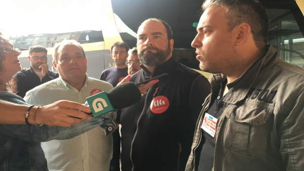 Piquete de sindicatos en Lugo por la huelga de autobuses