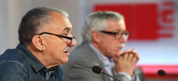 Pepe Álvarez e Ignacio Fernández Toxo
