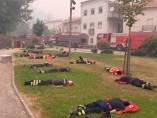 Bomberos exhaustos Portugal