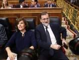 Santamaría y Rajoy en el Congreso de los Diputados.