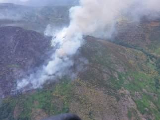 Incendio en Montrondo (León)