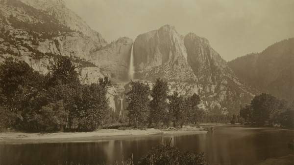 'Cataratas Yosemite'. Ochocientos tres metros. Watkins, Carleton E. 1863-1866