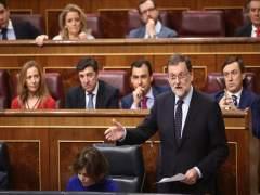 Mariano Rajoy durante la sesión de control al Gobierno en el Congreso
