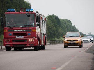 Prueba del Aviso de Vehículo de Emergencias