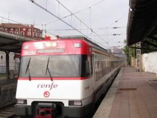 Tren de rodalies en la província
