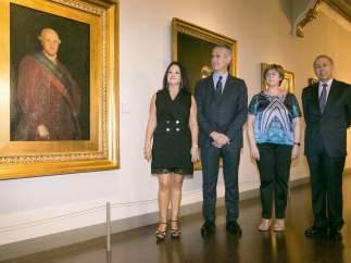 Primer retrato oficial del monarca Carlos IV, pintado por Goya
