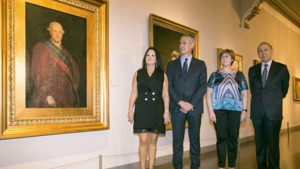 El primer retrato oficial de Carlos IV, pintado por Goya, llega al ...