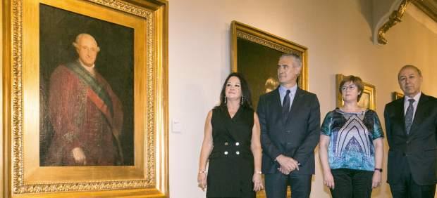 El primer retrato oficial de Carlos IV, pintado por Goya, llega al Museo de Zaragoza