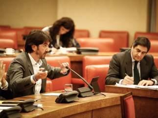 Sergio del Campo (Cs) y José Ignacio Echániz (PP) en la Comisión de Empleo