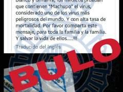 La Policía desmiente el bulo del virus 'Machupo' asociado al paracetamol