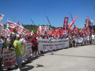 Valladolid. Manifestación transporte sanitario
