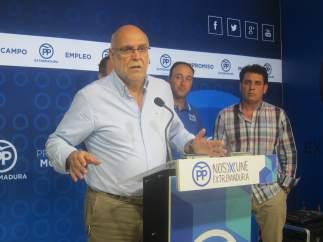 El portavoz de Medio Ambiente y Rural del Partido Popular en rueda de prensa