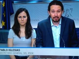 El Telediario de TVE 'nombra' a Pablo Iglesias secretario general del PSOE