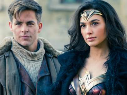 Chris Pine y Gal Gadot en Wonder Woman