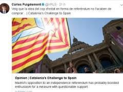 El Govern insta al Ejecutivo a permitir el referéndum