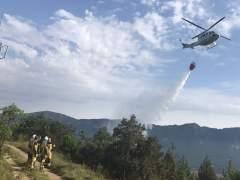 Declarado un incendio forestal cerca del embalse de Yesa.
