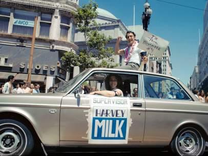 Harvey Milk durante su campaña