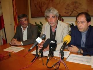 El alcalde de Blanes (Girona) el socialista Miquel Lupiáñez, en el centro de la imagen.