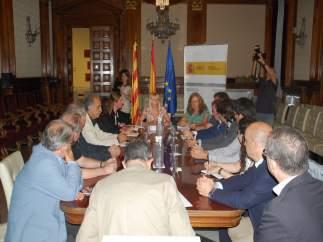 Reunión de Edullesa, sector frutícola y Subdelegación del Gobierno en Lleida