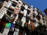 Balcones de Madrid por el World Pride 2017