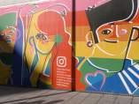 El mural realizado por Jose Antonio Roda