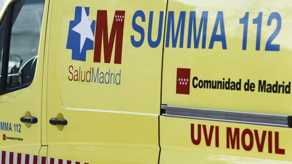 Ambulancias, ambulancia del SUMMA 112 en Madrid
