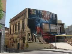Centro 'okupado' Can Vies del barrio de Sants de Barcelona