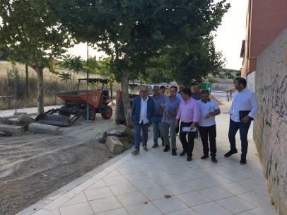 Reyes visita las obras en Fuente de la Mimbre de Jaén capital