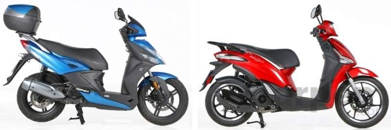 fotos: kymco agility city 125 vs. piaggio new liberty 125: bajo