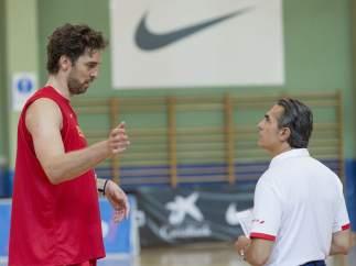 Pau Gasol y Sergio Scariolo