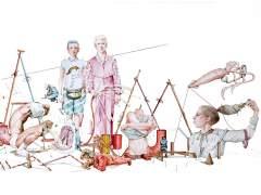 Un dibujo de 16 metros de largo para reflexionar sobre los roles de género