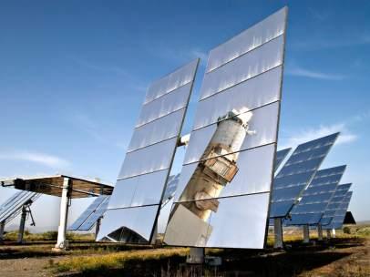 Plataforma solar energía renovable energía solar