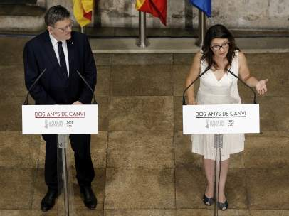 Puig y Oltra hacen balance de los dos años del Consell