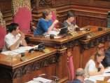 La alcaldesa Ada Colau en el pleno de Barcelona