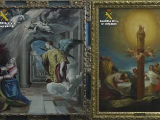 Cuadros de Goya y el Greco.