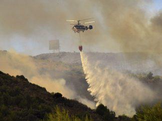 Incendio en Sierra Calderona