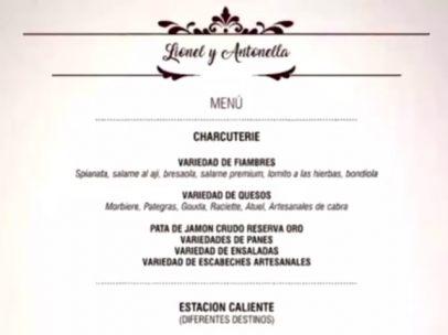 El menú de la boda de Leo Messi y Antonela Roccuzzo