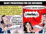 Rajoy preocupado por los incendios