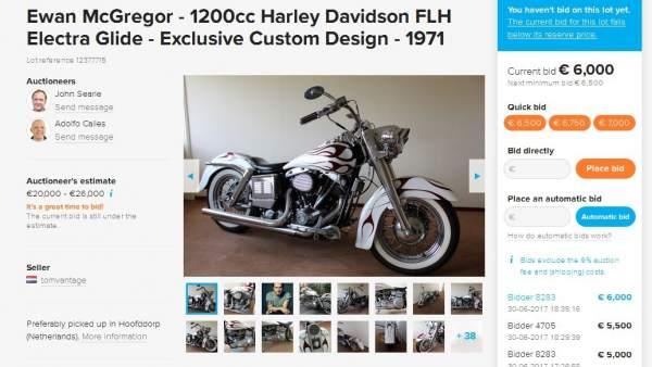 La moto de Ewan McGregor