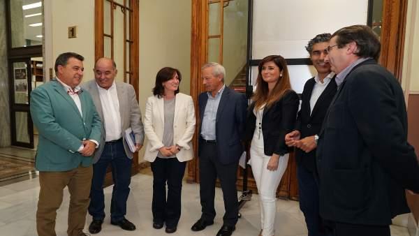 Representantes de los ayuntamientos de Valladolid y del alfoz
