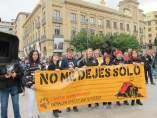 Manifestación en Pamplona contra la tauromaquia