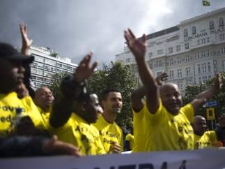 Manifestación en Río contra la violencia