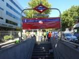 La líne 5 de Metro de Madrid, cerrada