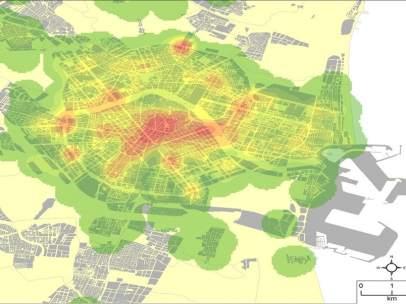Concentración de accidentes en la ciudad de València