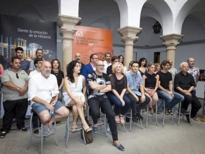 El reparto que conforma 'La Orestíada' del Festival de Teatro de Málaga